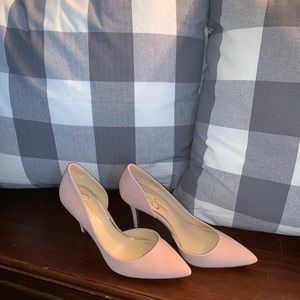 Light pink pumps